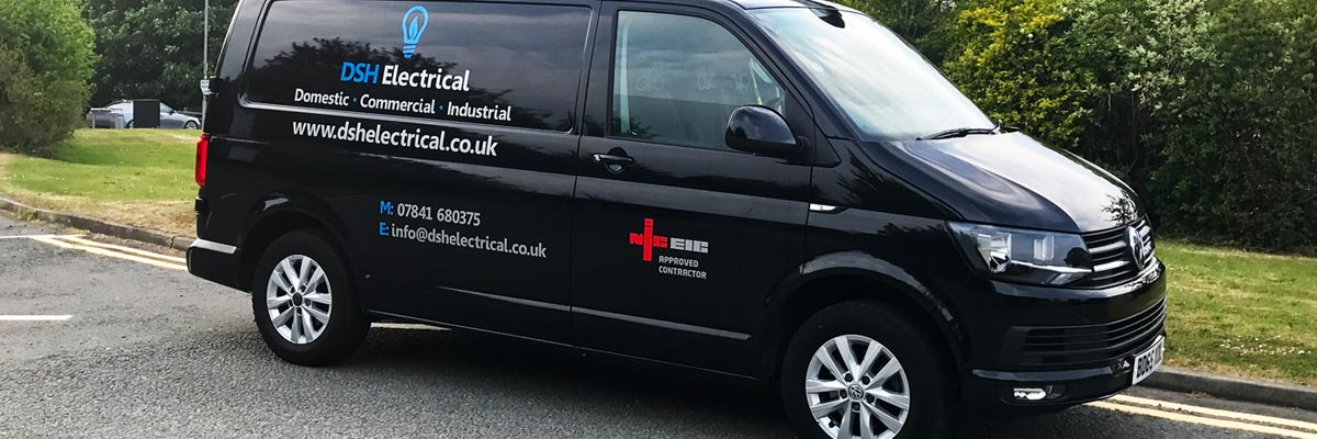 DSH Electrical Company Van